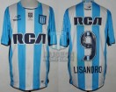 Racing Club - 2016/17 - Home - Topper - RCA/BC - Parche RS - 5ta Fecha vs Patronato - L. Lopez