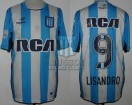 Racing Club - 2016 LIB - Home - Topper - RCA/BC - Copa Lib. 5ta Fecha vs Boca Jrs. - L. Lopez