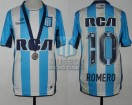 Racing Club - 2016 CB - Home - Topper - RCA/BC - Medalla - Final Copa Bicentenario vs Lanus - O. Romero