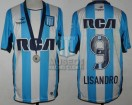 Racing Club - 2016 CB - Home - Topper - RCA/BC - Medalla - Final Copa Bicentenario vs Lanus - L. Lopez