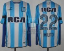 Racing Club - 2016 TR - Home - Topper - RCA/BC - 15ta Fecha vs Defensa y Justicia - D. Milito