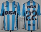 Racing Club - 2016 TR - Home - Topper - RCA/BC - 13ra Fecha vs Huracan - D. Milito