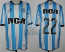 Racing Club - 2016 TR - Home - Topper - RCA - 2da Fecha vs San Martin SJ - D. Milito