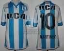 Racing Club - 2017/18 SAF - Home - Kappa - RCA/BC - 10ma Fecha vs Independiente - L. Martinez