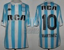 Racing Club - 2017/18 SAF - Home - Kappa - RCA/BC - 24ta Fecha vs Rosario Central - L. Martinez