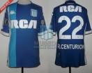 Racing Club - 2018 LIB - Away - Kappa - RCA/BC - 4ta Fecha Copa CONMEBOL Libertadores vs Vasco da Gama - A. Centurion