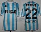Racing Club - 2018 LIB - Home - Kappa - RCA/BC - OF Copa CONMEBOL Libertadores IDA vs River Plate - A. Centurion