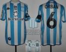 Racing Club - 2020 CDAM - Home - Kappa - Aeroset/BC - 5ta Fecha Copa DAM-LPF vs Arsenal - Parche DAM - L. Orban