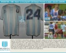 Argentina - 1988 - Home - Le Coq Sportif - U23 Olympic Friendly vs Japan - J. Zamora
