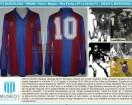 FC Barcelona - 1983/84 - Home - Meyba - 18va Fecha LFP vs Sevilla FC - D. Maradona