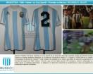 Argentina - 1984 - Home - Le Coq Sportif - Friendly vs Mexico - R. Giusti