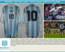 Argentina - 1995 - Home - Adidas - Friendly vs Bulgary - M. Gallardo