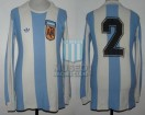 Argentina - 1977 - Home - Adidas - Friendly vs Scotland - D. Killer