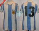 Argentina - 1977 - Home - Uribarri - Friendly vs Hungary - J. Benitez