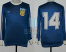 Argentina - 1978 - Away - Adidas - Friendly vs Cipolletti - O. Ardiles
