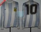 Argentina - 1978 - Home - Adidas - 2nd Round Argentina WC vs Brasil - M. Kempes