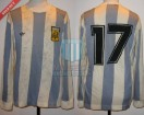 Argentina - 1978 - Home - Adidas - 2nd Round Argentina WC vs Peru - M. Oviedo