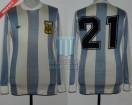 Argentina - 1978 - Home - Adidas - 2nd Round Argentina WC vs Peru - J. Valencia