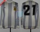 Argentina - 1978 - Home - Adidas - 2nd Round Argentina WC vs Poland - J. Valencia