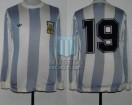 Argentina - 1978 - Home - Adidas - 2nd Round Argentina WC vs Poland - D. Passarella