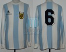 Argentina - 1980 - Home - Le Coq Sportif - Friendly vs England - D. Passarella