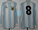 Argentina - 1982 - Home - Le Coq Sportif - Friendly vs Rumania - O. Ardiles