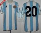 Argentina - 1982 - Home - Le Coq Sportif - Spain WC vs Belgium - J. Valdano