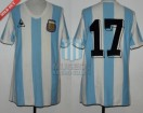 Argentina - 1982 - Home - Le Coq Sportif - Spain WC vs El Salvador - S. Santamaria