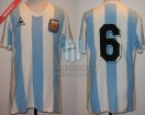 Argentina - 1982 - Home - Le Coq Sportif - Spain WC vs Italy - R. Diaz