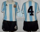 Argentina - 1982 - Home - Le Coq Sportif - 2nd Round Spain WC vs Brasil - R. Bertoni