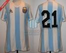 Argentina - 1982 - Home - Le Coq Sportif - Spain WC vs Italy - J. Valencia