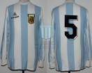 Argentina - 1983 - Home - Le Coq Sportif - Copa America vs Ecuador - O. Garre