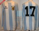 Argentina - 1983 - Home - Le Coq Sportif - Friendly vs Chile - J. Rinaldi