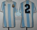 Argentina - 1984 - Home - Le Coq Sportif - Friendly vs Mexico - R. Giusti
