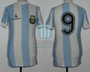 Argentina - 1984 - Home - Le Coq Sportif - Friendly vs Mexico - R. Gareca