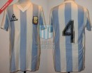 Argentina - 1985 - Home - Le Coq Sportif - Friendly vs Paraguay - J. Barbas