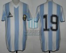 Argentina - 1985 - Home - Le Coq Sportif - Friendly vs Brasil - M. Vanemerak