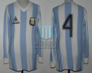 Argentina - 1985 - Home - Le Coq Sportif - Friendly vs Mexico - O. Ruggeri