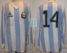 Argentina - 1985 - Home - Le Coq Sportif - Qualy Mexico WC vs Peru (Vuelta) - J. Barbas