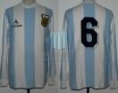 Argentina - 1985 - Home - Le Coq Sportif - Qualy Mexico WC vs Colombia (Vuelta) - D. Passarella