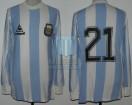 Argentina - 1985 - Home - Le Coq Sportif - Qualy Mexico WC vs Venezuela - A. Marcico