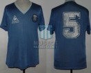Argentina - 1986 - Away - Le Coq Sportif - R16 Mexico WC vs Uruguay - J. Brown