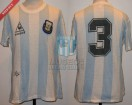 Argentina - 1986 - Home - Le Coq Sportif - Mexico WC Friendly Match - R. Bochini