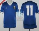 Argentina - 1987 - Away - Le Coq Sportif - Colombia U20 Sudamericano vs Uruguay - H. Maradona