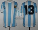 Argentina - 1987 - Home - Le Coq Sportif - Friendly vs Germany - A. Russo
