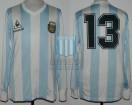 Argentina - 1987 - Home - Le Coq Sportif - Friendly vs Italy / Copa America - O. Garre