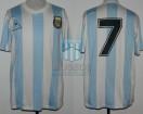 Argentina - 1988 - Home - Le Coq Sportif - Copa Hispanidad vs Spain - C. Caniggia