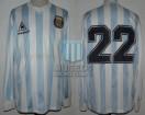 Argentina - 1988 - Home - Le Coq Sportif - Australia Bicentenary Gold Cup vs Brasil - D. Siviski