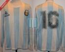 Argentina - 1988 - Home - Le Coq Sportif - Copa Cuatro Naciones vs URSS - J. Olarticoechea
