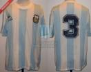 Argentina - 1989 - Home - Le Coq Sportif - Copa America vs Brasil - J. Basualdo
